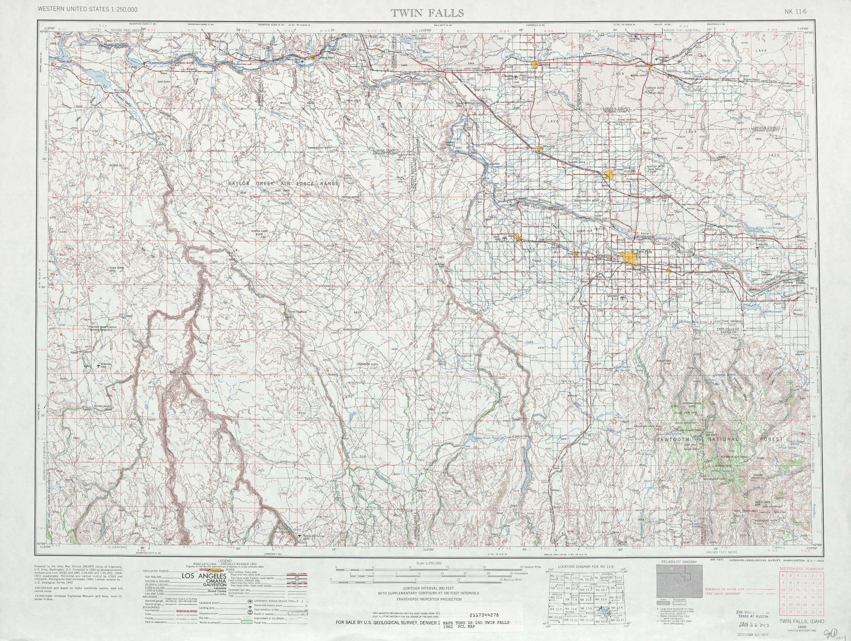 Twin Falls topographic maps ID USGS Topo Quad 42114a1 at 1