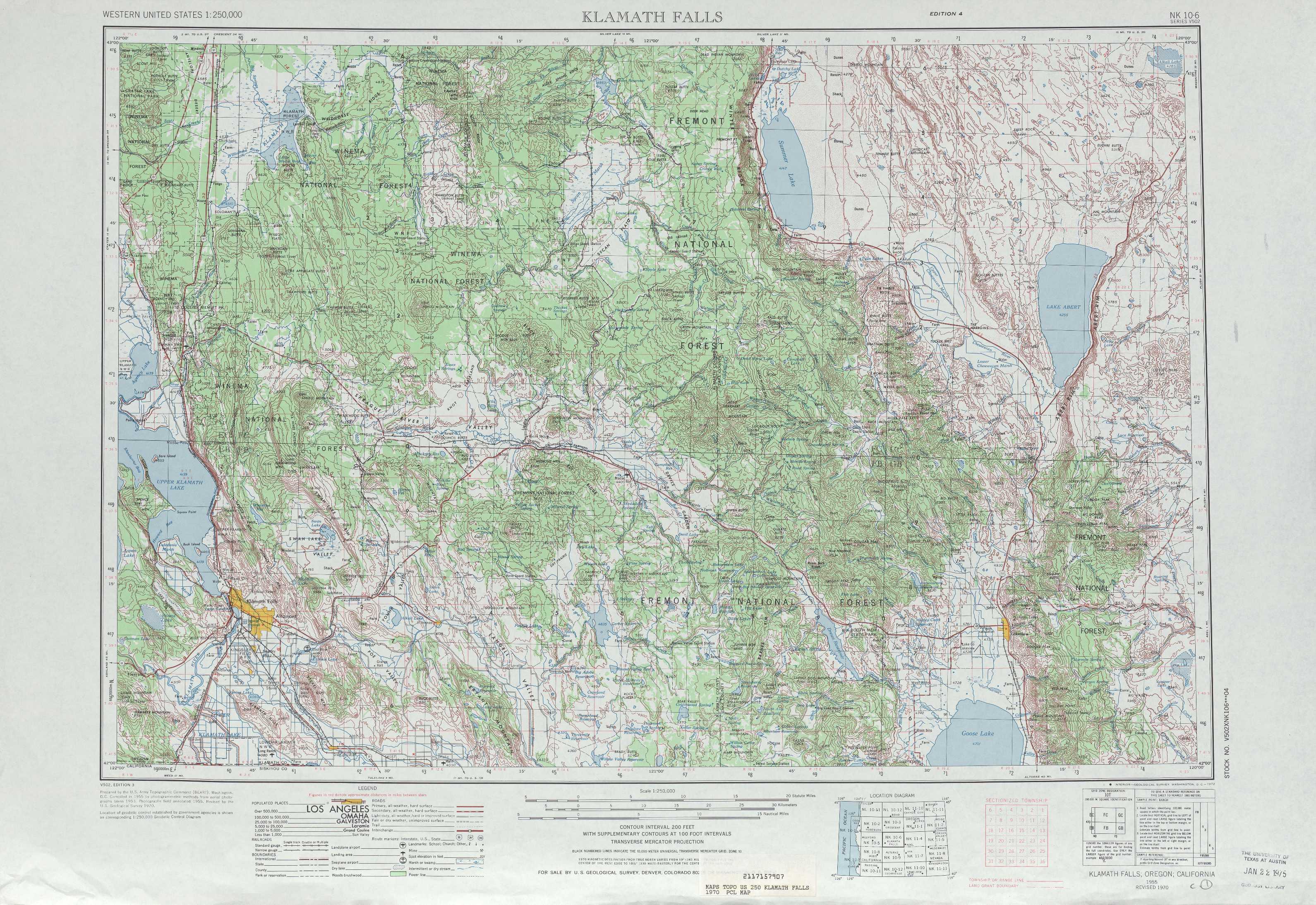 Klamath Falls Topographic Maps OR USGS Topo Quad A At - Oregon topographic map