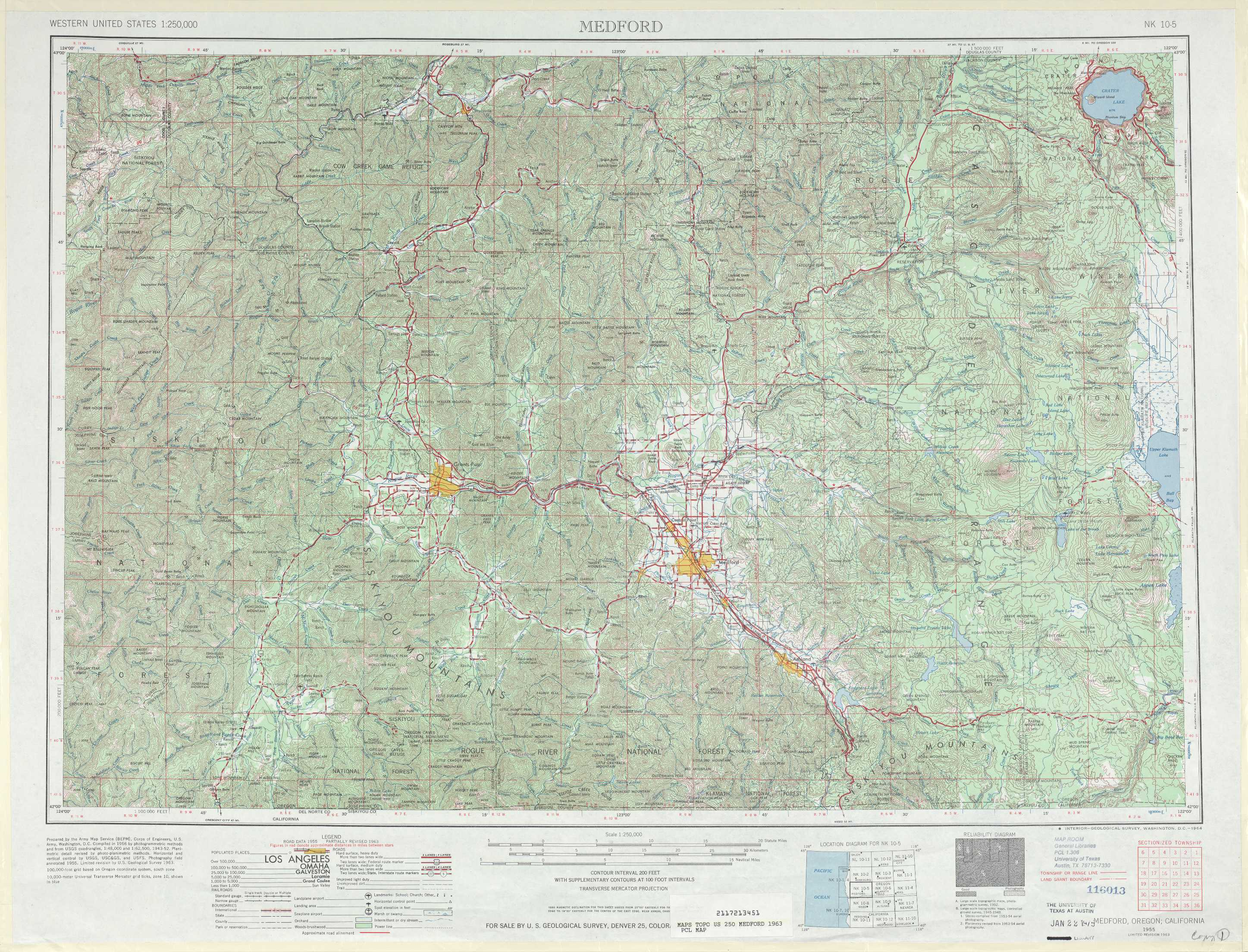 Medford Topographic Maps Or Usgs Topo Quad 42122a