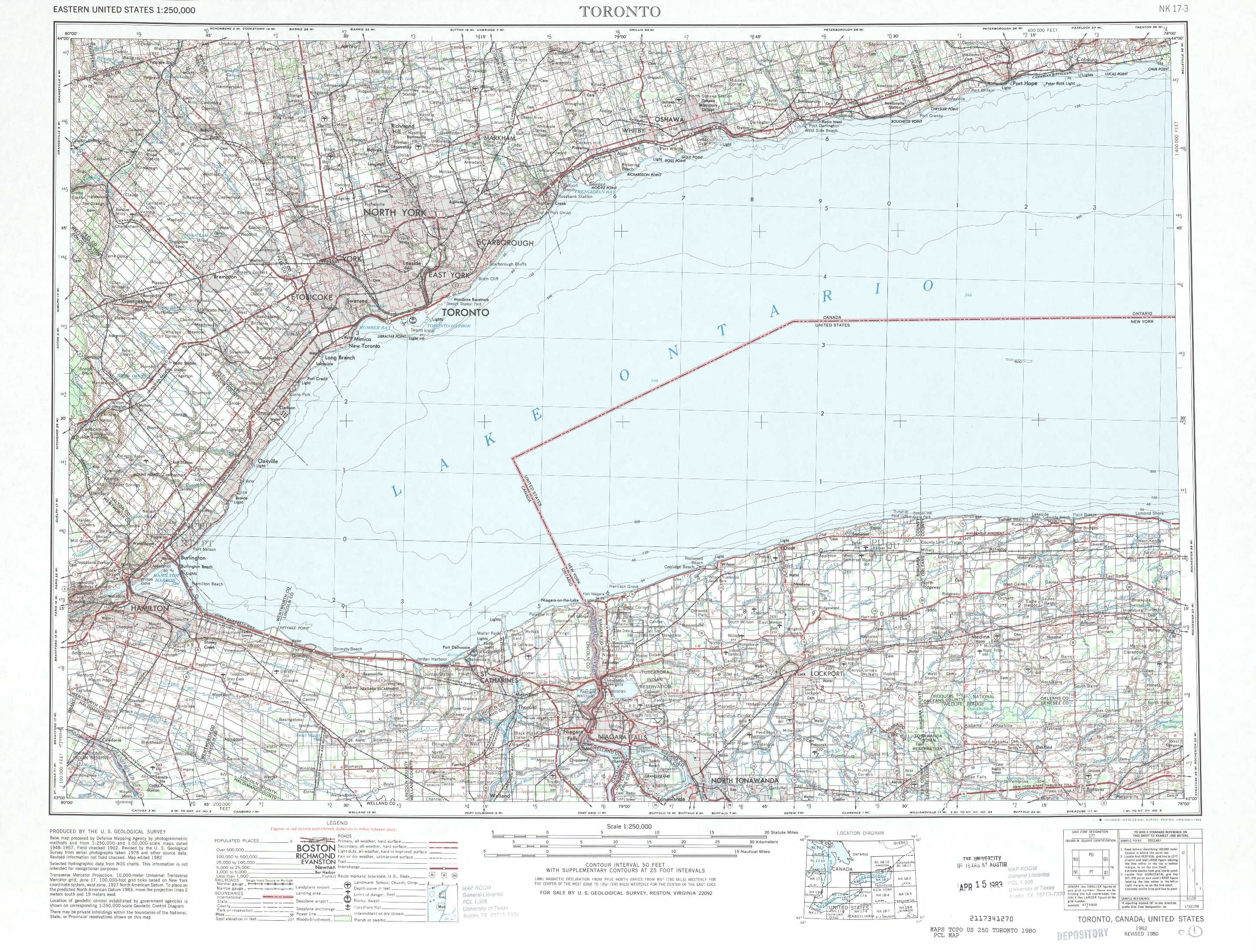 Toronto Topographic Maps NY  USGS Topo Quad 43078a1 At 1