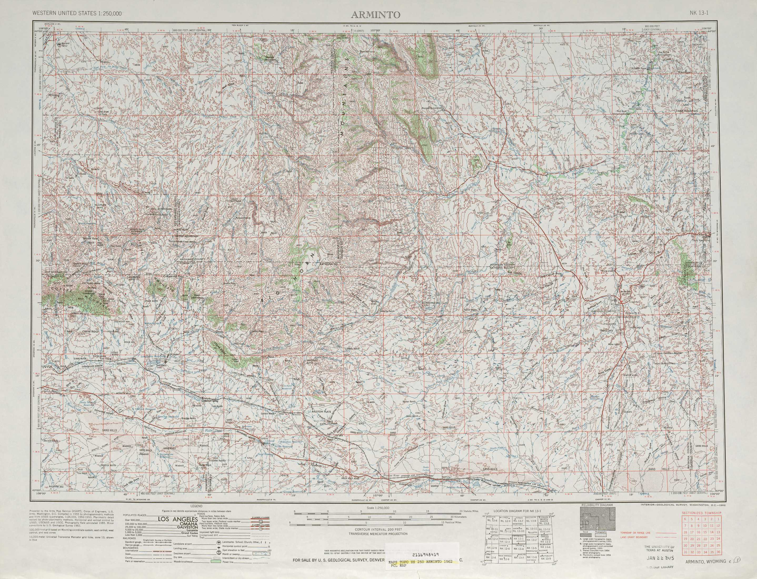 Arminto Topographic Maps WY  USGS Topo Quad 43106a1 At 1