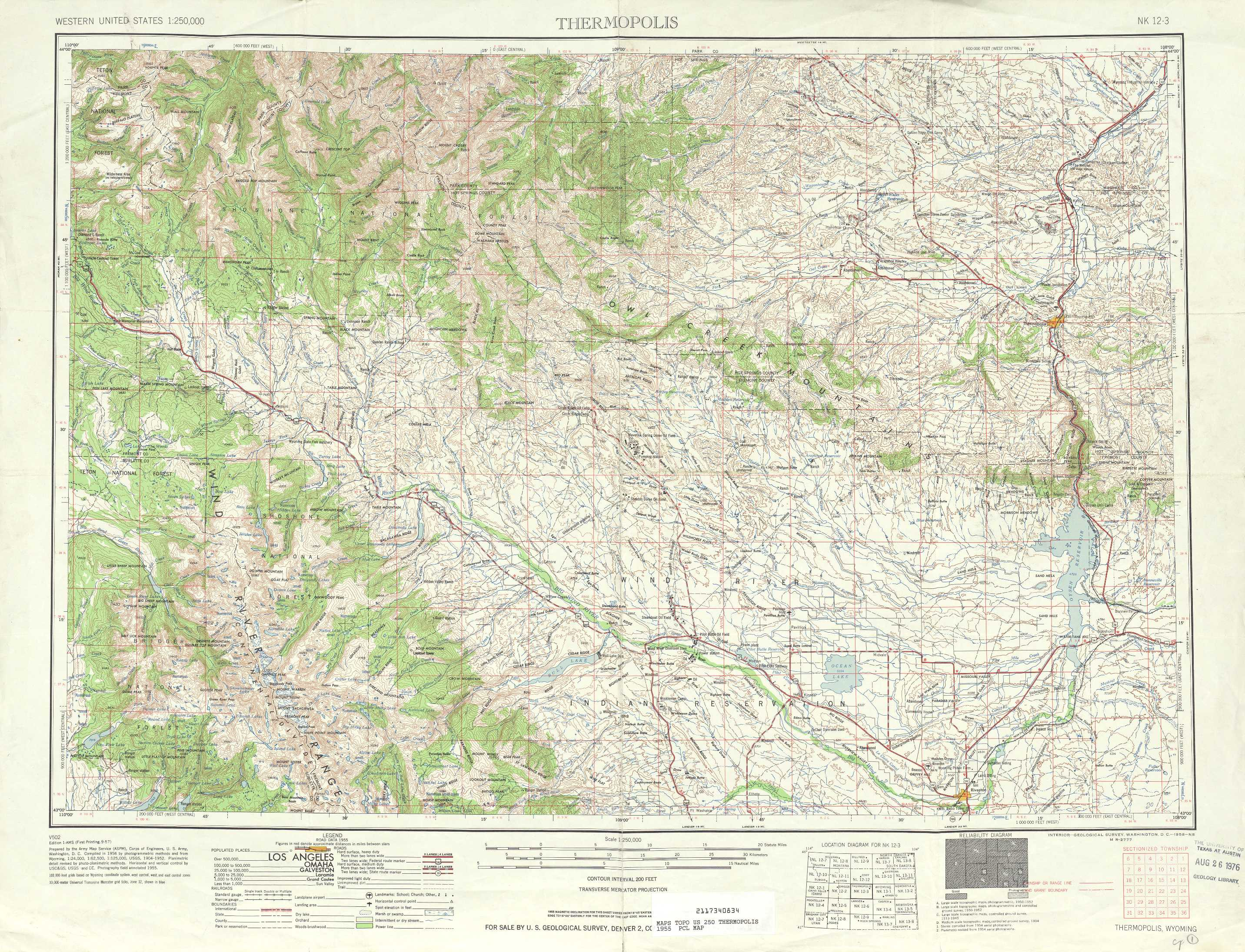 Thermopolis Topographic Maps WY USGS Topo Quad A At - Maps wyoming