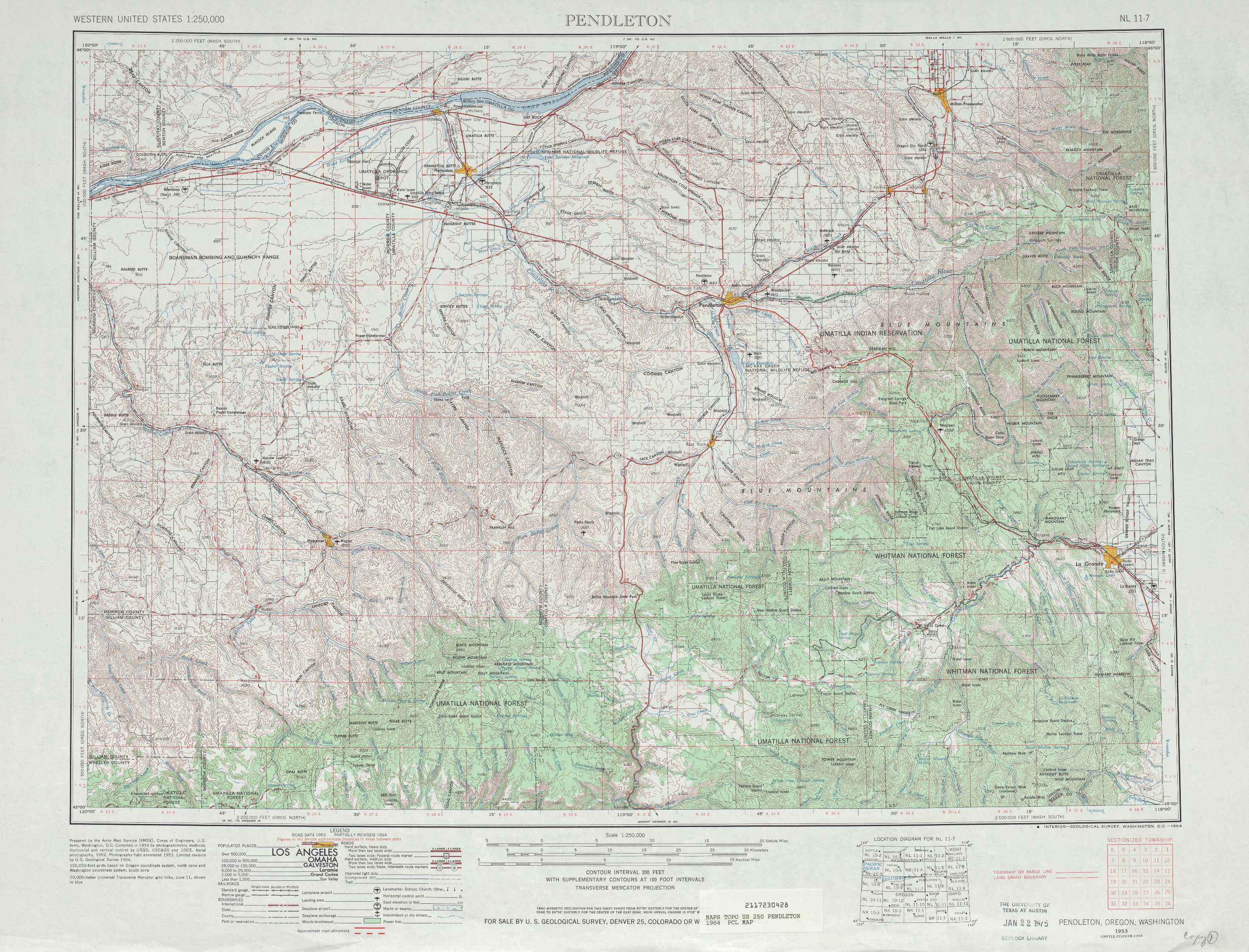 Pendleton Topographic Maps Or Wa Usgs Topo Quad