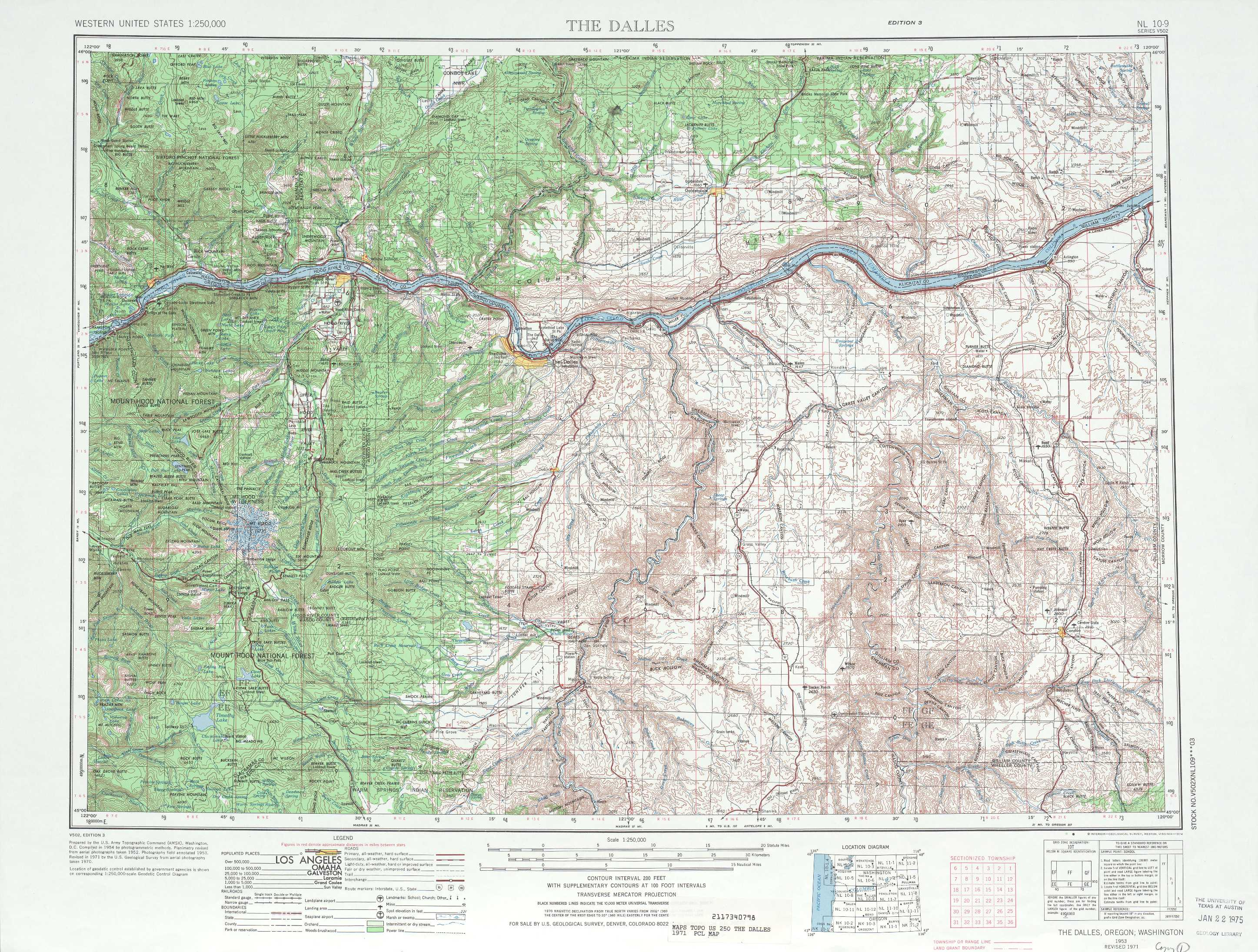 the dalles. the dalles topographic maps or wa  usgs topo quad a at
