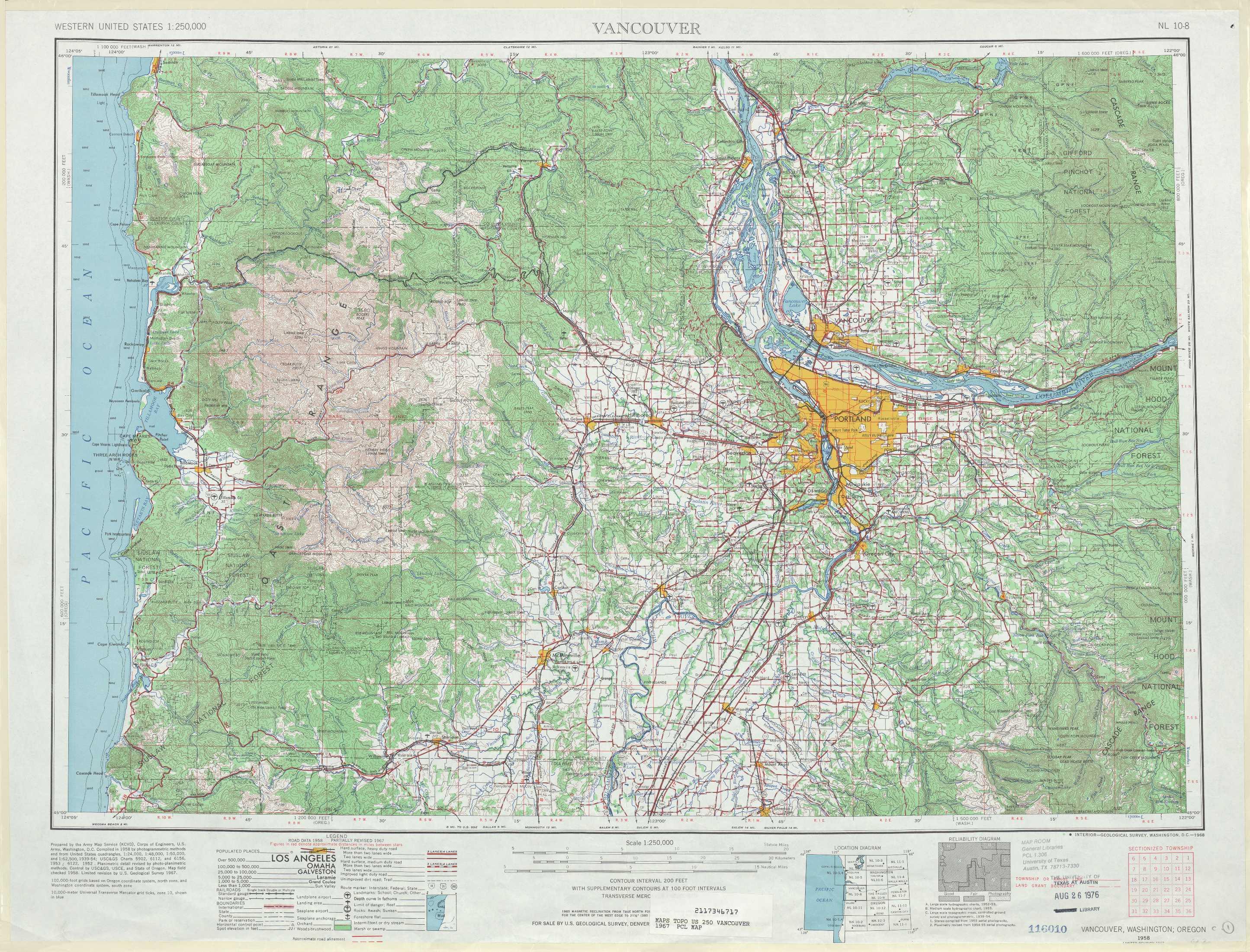 Vancouver Topographic Maps OR WA USGS Topo Quad A At - Oregon topographic map