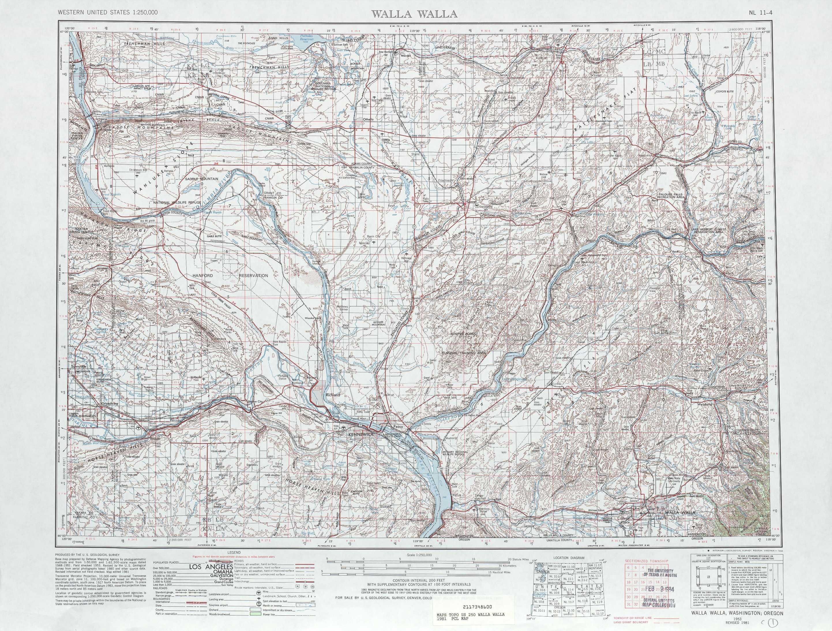 Walla Walla Topographic Maps Wa Usgs Topo Quad 46118a1