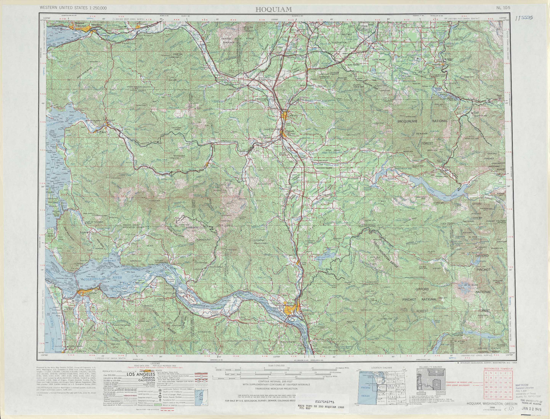 Hoquiam Topographic Maps WA OR  USGS Topo Quad 46122a1