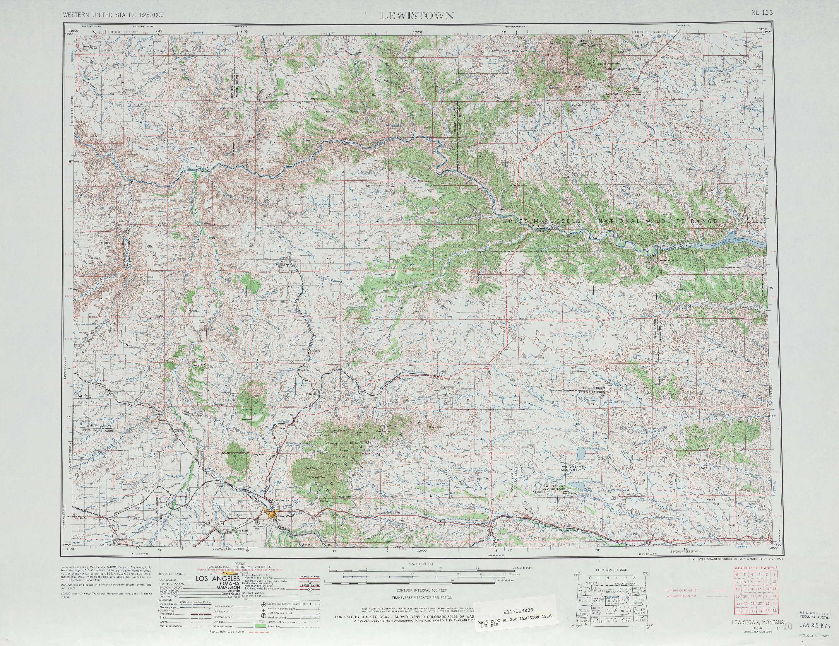 Lewistown Topographic Maps Mt Usgs Topo Quad 47108a1 At