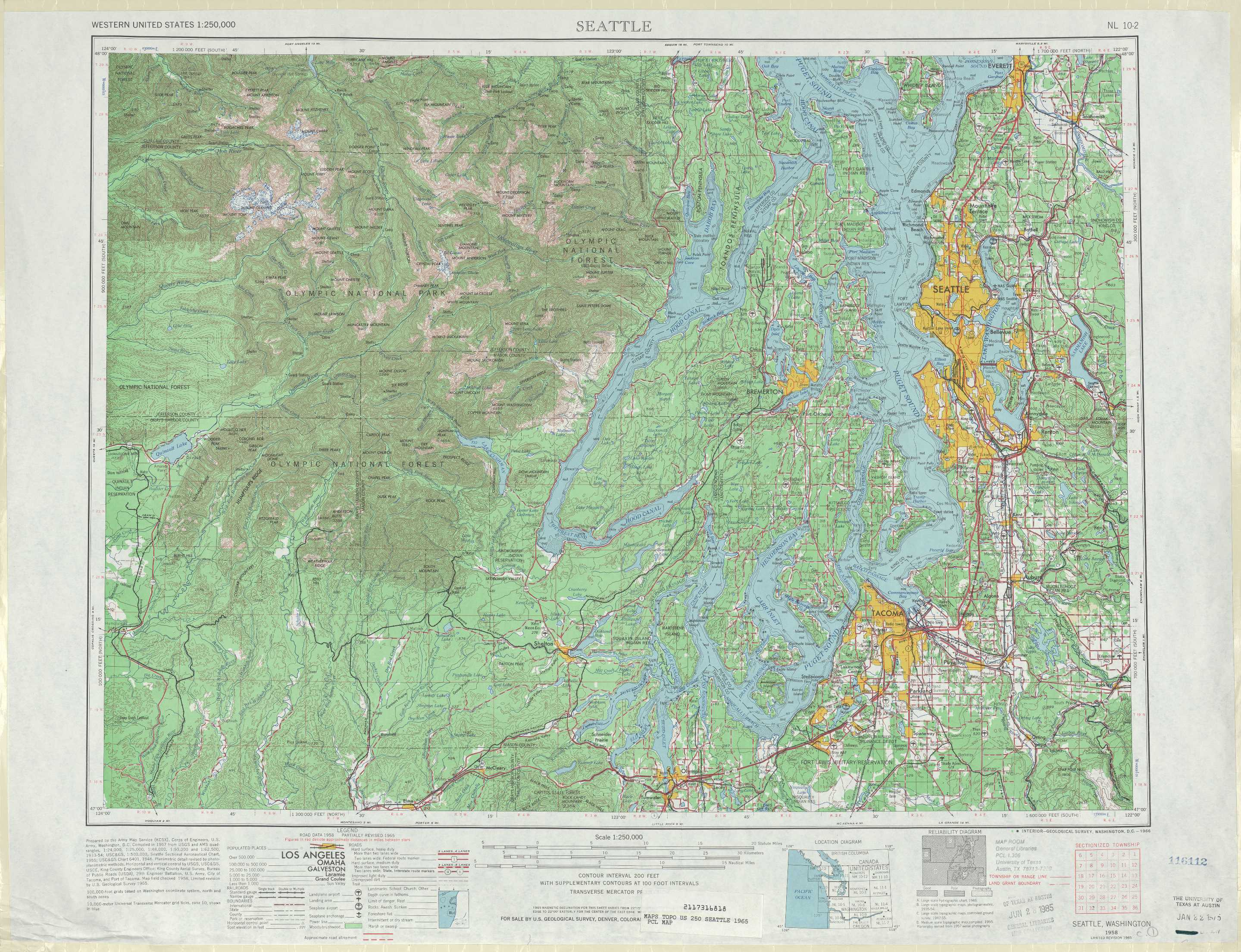 Seattle Topographic Maps WA USGS Topo Quad