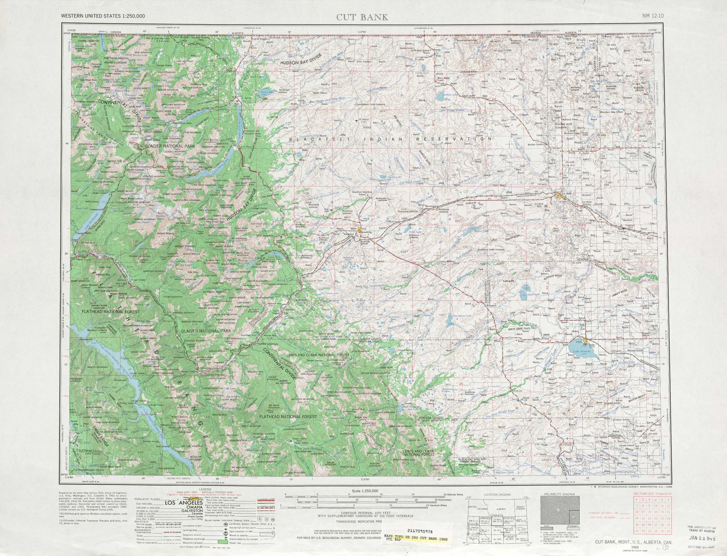 Cut Bank Topographic Maps MT  USGS Topo Quad 48112a1 At