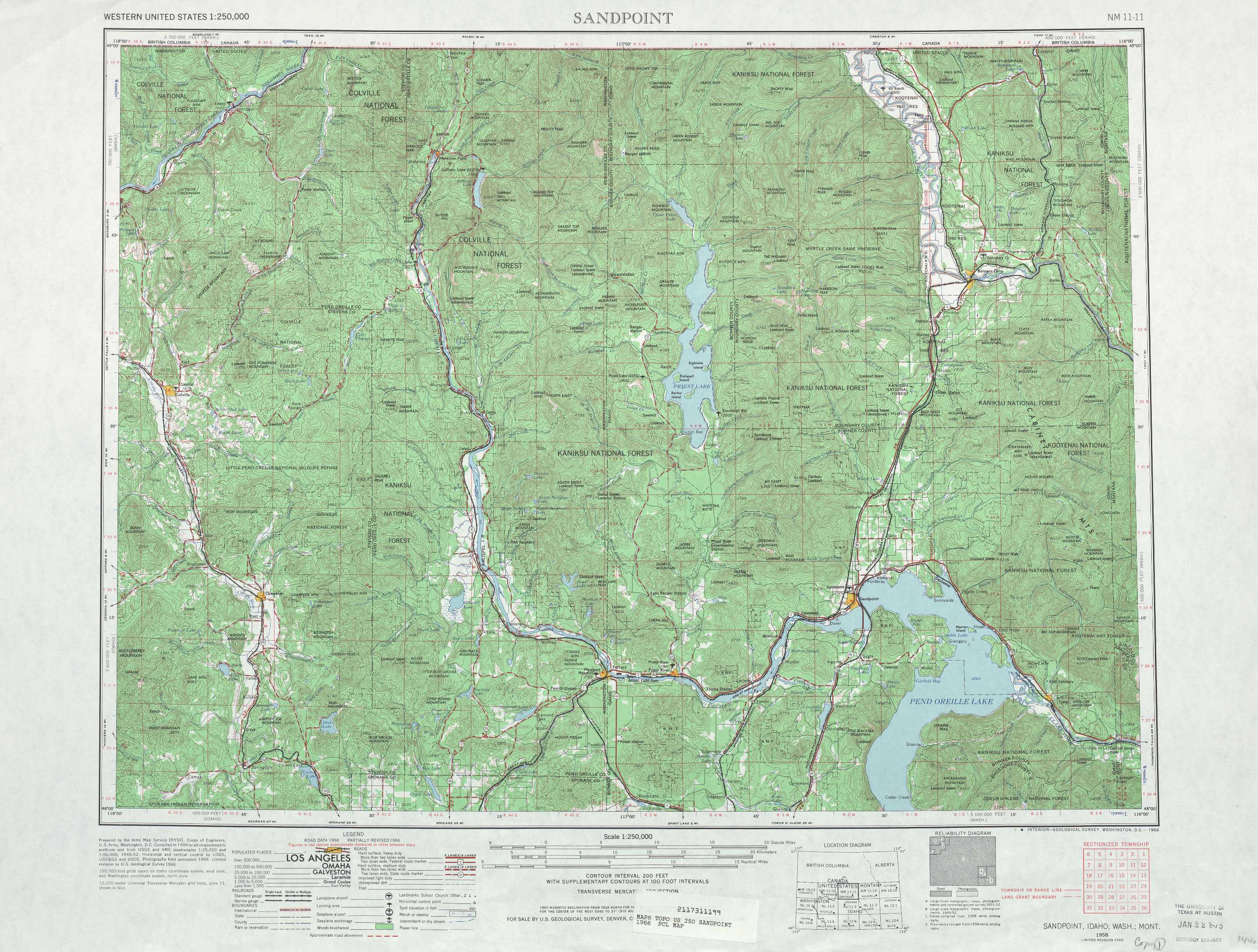 Sandpoint Topographic Maps WA ID MT USGS Topo Quad A At - Where to buy us topo maps