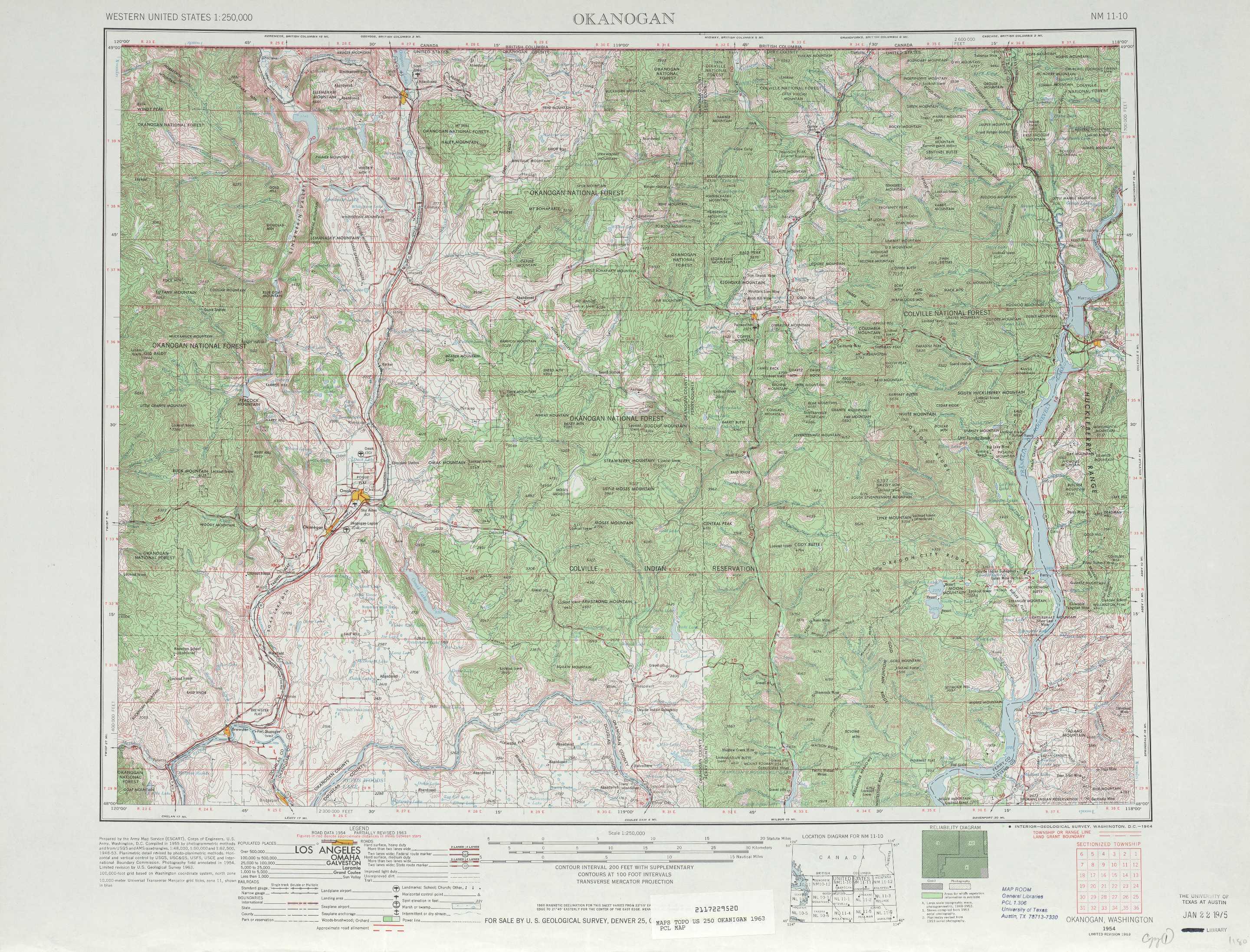 Okanogan Topographic Maps WA  USGS Topo Quad 48118a1 At