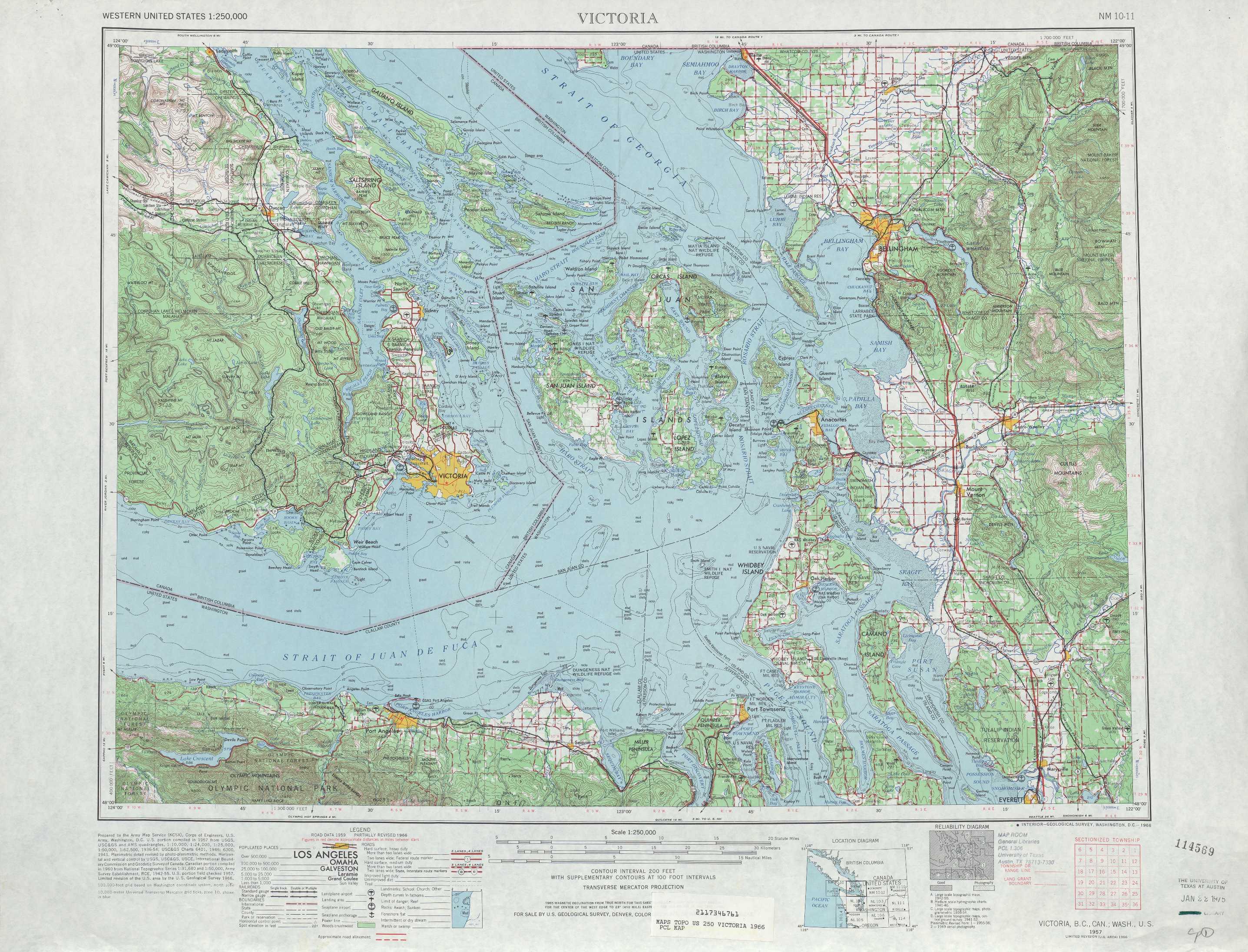 Victoria Topographic Maps WA  USGS Topo Quad 48122a1 At