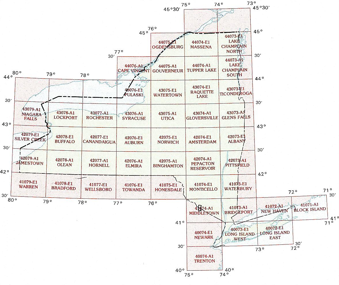 new york topographic index maps - ny state usgs topo quads