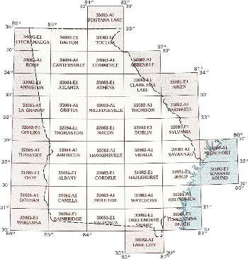GA topo index map 100k scale