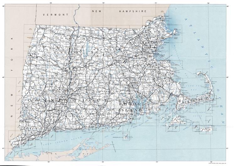 CT topo index map 24k Scale