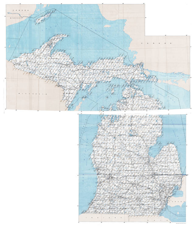 MI topo index map 24k Scale