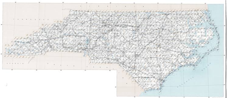 NC topo index map 24k Scale