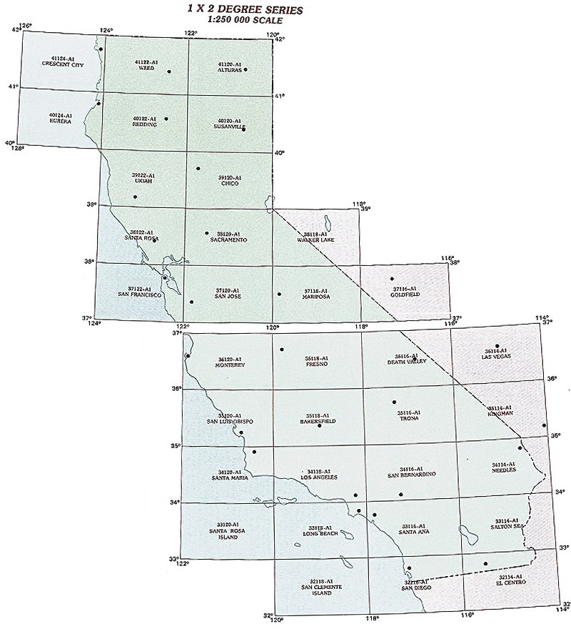 California Topographic Index Maps - CA State USGS Topo Quads