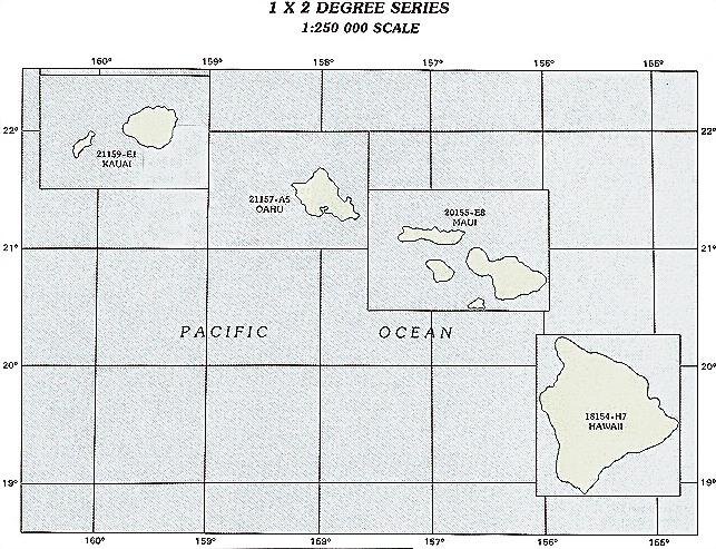 topographic map of hawaiian islands. Hawaii topo maps at 1:250000