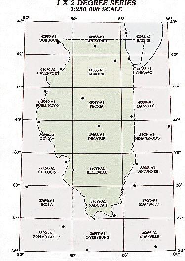 Illinois Topographic Index Maps IL State USGS Topo Quads K - Map of il