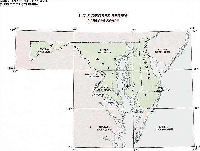 Maryland Topographic Index Maps Md State Usgs Topo Quads 24k