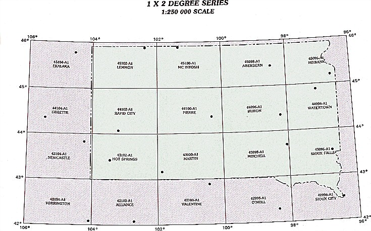 South Dakota Topographic Index Maps SD State USGS Topo Quads - Sd maps