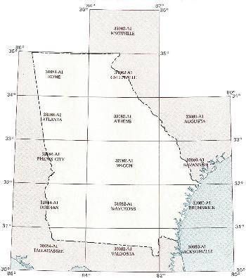 GA topo index map 250k scale