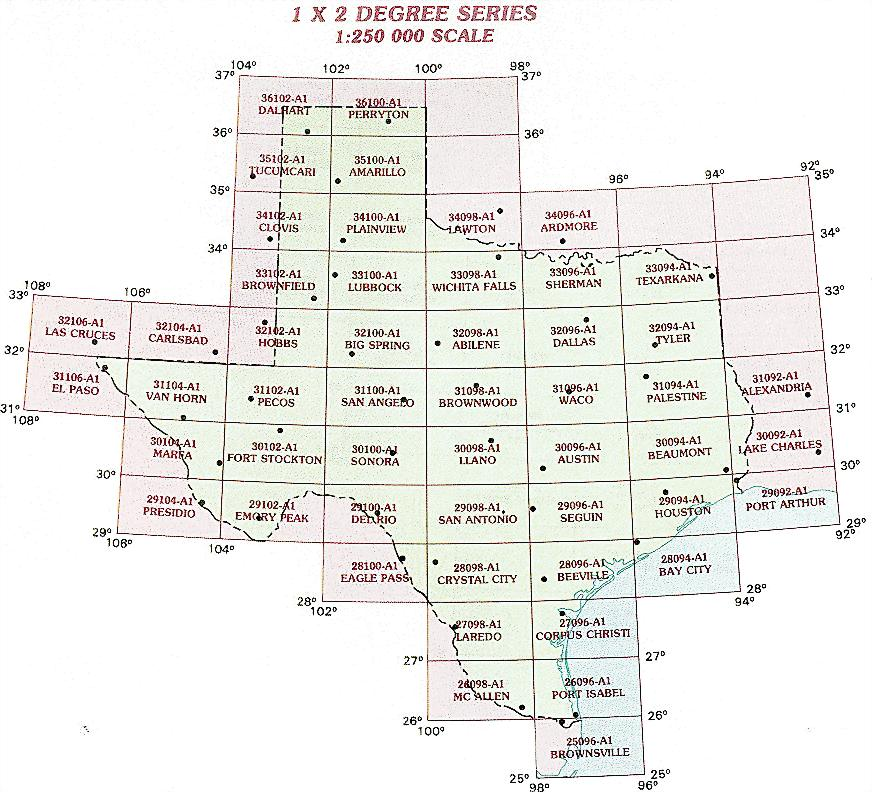 Texas Topographic Index Maps TX State USGS Topo Quads K - Maps of tx